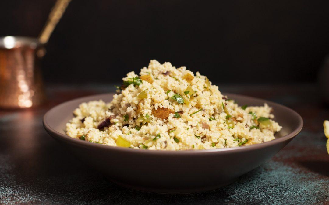 Griddled chicken with quinoa Greek salad